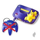Nintendo 64 Konsole Pikachu-Edition ohne Controller